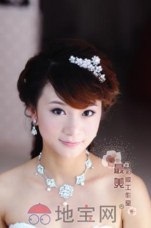南昌新娘跟妆-最美彩妆新娘会所之可爱陈蕾试妆造型!