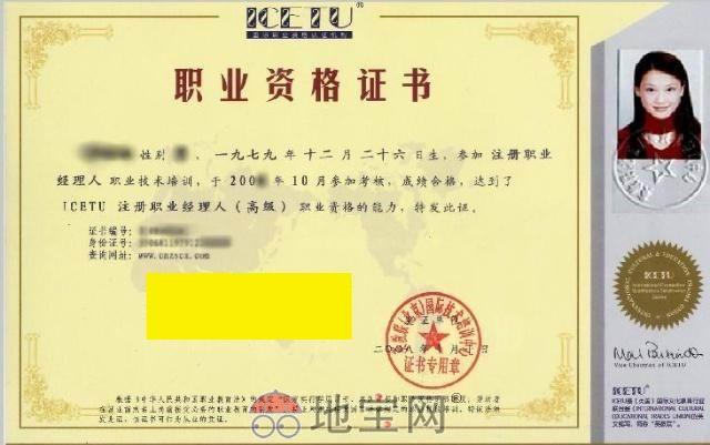 高级设计师资格证图片展示