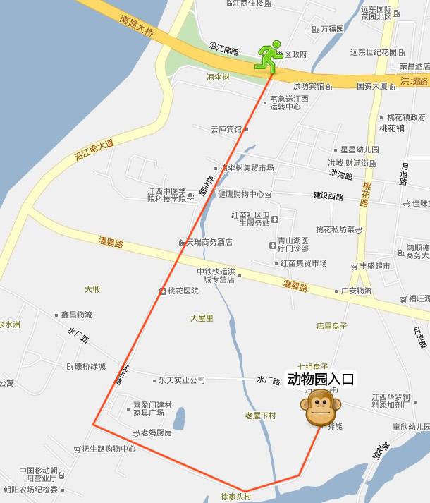 南昌新动物园自驾游路线